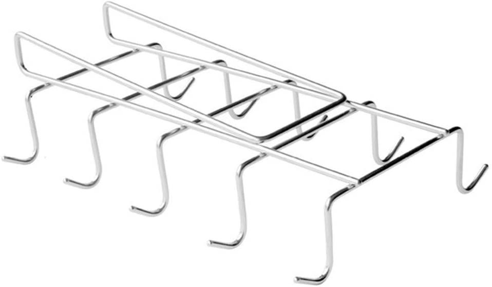 Super popular specialty store 10 Hooks 304 Stainless 100% quality warranty Steel Cup Shelf Coffee Kitch Lower Holder