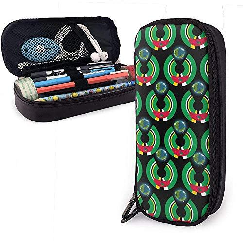 Dominica Flagge Eat The Earth Bleistiftetui Pencase Pouchbeutel Schreibwaren Organizer Cosmetic Makeup Bag
