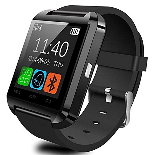 U8 Smartwatch UWatch Bluetooth Smart Watch Fit for Samsung Galaxy S4 S5 S6 S7 Edge Note 3 4 5 HTC Nexus Sony LG Huawei Android Smartphones (Black)