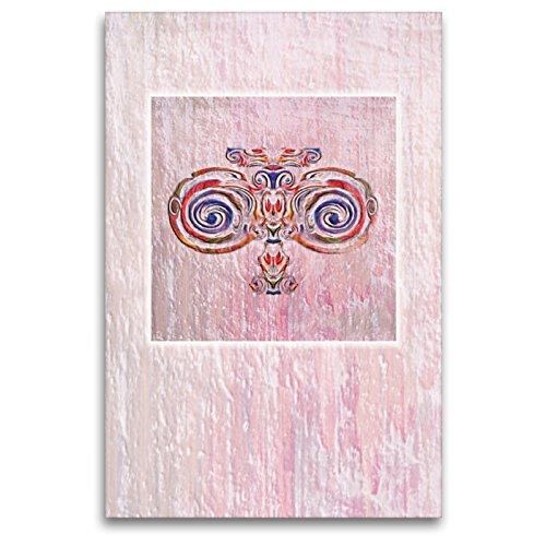 """Premium Textil-Leinwand 80 x 120 cm Hoch-Format Ornament\"""" Jugendstil\""""   Wandbild, HD-Bild auf Keilrahmen, Fertigbild auf hochwertigem Vlies, Leinwanddruck von Claudia Gründler"""