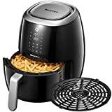 Air Fryer, Willsence Healthier Preheat Function Large Hot XL Air Fryers, Fast Cook Oven, Digital Oilless Cooker,Touch Screen, 8 Presets, Cookbook, Dishwasher Safe, Nonstick Basket, BPA Free