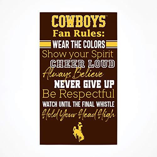 P. Graham Dunn Collegiate Fan Rules University of Wyoming NCAA 24 x 14 cm Birkenholz Palettendekor Schild