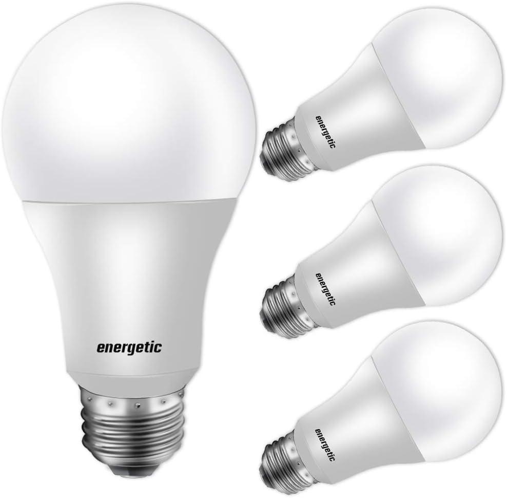 60w Equivalent A19 Led Light Bulb 3000k Warm White E26 Medium Base Non Dimmable Led Light Bulb 750lm Ul Listed 4 Pack Led Bulbs Amazon Canada