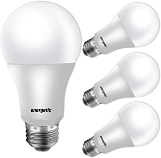 60W Equivalent, A19 LED Light Bulb, 5000K Daylight, E26 Medium Base, Non-Dimmable LED Light Bulb, 750lm, UL Listed 4 Pack