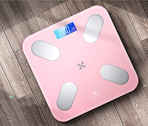TFACR Electronic Scale,Home Accurate Weight Scale,Weight Digital Fat Scale,Best Fitness Weight Loss Scale Health Monitor,Pink,Battery Type