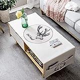 Mantel, mantel nórdico de sala de estar de alce, mantel de algodón y lino rectangular, cubierta de mostrador de TV, paño,...