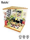 ROBOTIME DIY Haus Bausatz Basteln Miniatur Puppenhaus Dekoration Kreative Geschenkidee mit LED Licht...