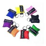 Confezione da 8 punti CPR Mask Keychain Ring Kit di emergenza Kit di soccorso scudo con ba...