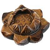 mookaitedecor porta candele/supporto di palla fiore di loto pietra naturale, Cristallo Gua...