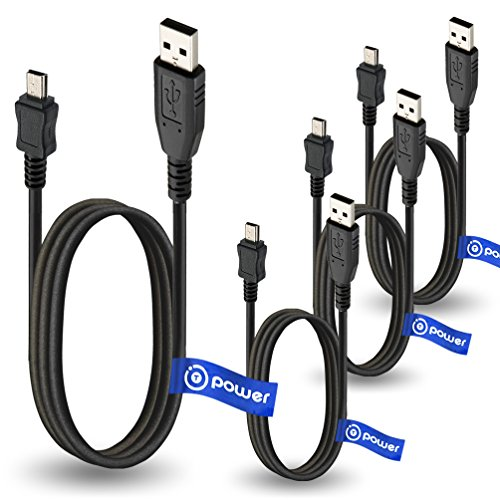 4 x pcs T-Power USB Cable for RCA MP3 Player Opal Replacement Spare Power Cord Charging Sync Data Cable
