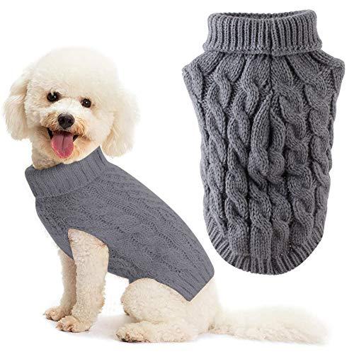 Hundepullover, Hundepullover Kleine Hunde, Haustier Pullover Rollkragen, Hundepullover Große Hunde, Winter Warmer Hund Katzenpullover Kleidung Haustiermantel Kostüm Welpenpullover (L)