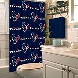 Northwest NOR-1NFL903000119RET Houston NFL 903 Texans Shower Curtain