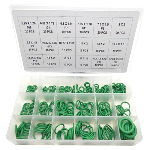 Simply Silver - 270pc High Pressure O-Ring Set HNBR A/C Assortment Oil Proof Plumbing Air Gas