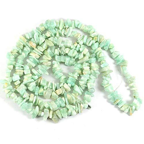 Reiki Crystal Products - Collana Mala con pietre naturali di amazzonite, con chip di cristallo Mala Reiki Mala per guarigione Reiki e pietre curative di cristallo, lunghezza 66 cm