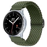 Booyi Correa Kompatibel con Samsung Galaxy Watch Active2 / Active, 20mm Correa de Nailon Trenzado elástico de con Samsung Gear S2 Classic 3 / Watch 3 41 mm/Garmin Vivo Active 3