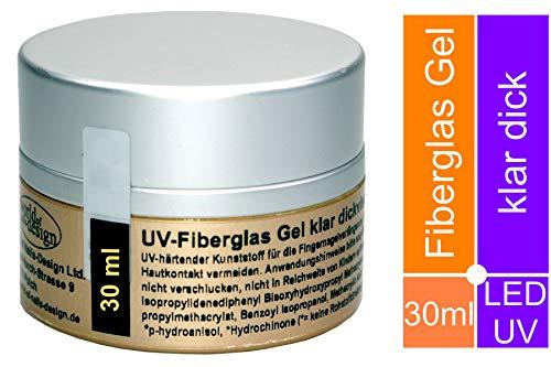 LED/UV-Gel Fiberglas klar dickviskose 30 ml, Premium