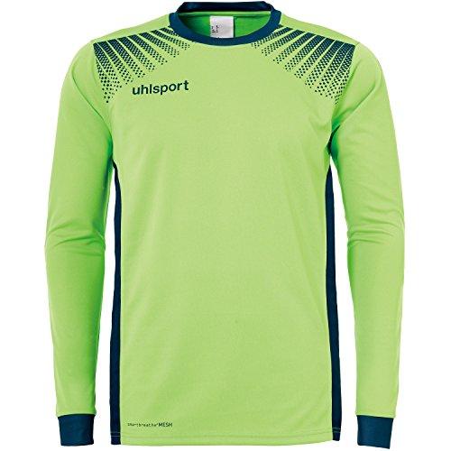 uhlsport Herren Goal LA Torwartshirt, Flash Grün/Petrol, 128