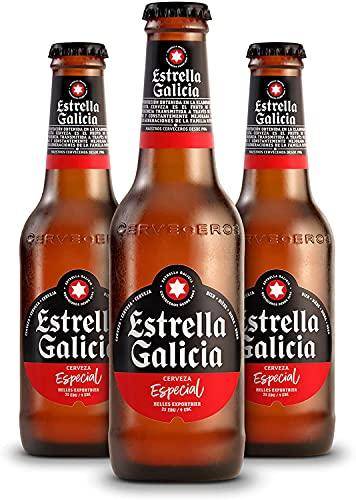 Cerveza Estrella Galicia Bebida Alcoholica, 12 x 250ml