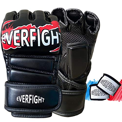 EVERFIGHT Gants MMA, Mitaine Boxe, Krav Maga, Muay Thai, Gants De Boxe, Jujitsu, Taekwondo, Self...