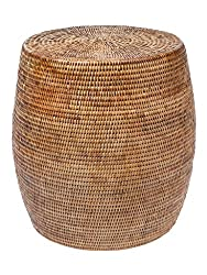 Amazon Kouboo rattan woven side table storage stool