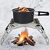 Richaoll Portable <span class='highlight'>Barbecue</span>s Grill, 4-claw Card <span class='highlight'>BBQ</span> Grill Stainless Steel Barbeque Grills for Outdoor Cooking Camping Hiking Picnics Backpacking