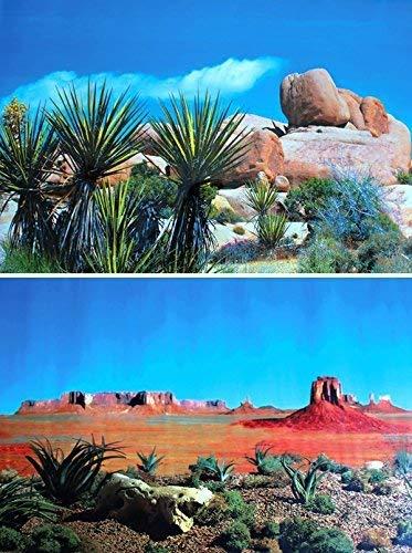 TRIXIE Terrarium Rückwand doppelseitig mit Wüste/Steppe Motiv, 150x 60cm, 4Stück
