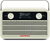 Nordmende Transita 120 IR tragbares Internetradio (DAB+ Radio, UKW, WLAN, 24 Stunden Akku, Wecker, Sleeptimer, Kopfhöreranschluss, 5 Watt Mono-Lautsprecher) beige