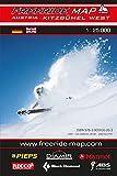 Freeride Map Kitzbühel West: Maßstab 1:25 000
