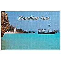 タンザニアザンジバル海ジグソーパズル1000ピースゲームアートワーク旅行お土産木製