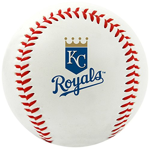 Jarden Sports Licensing MLB Kansas City Royals Team Logo Baseball, Official, White