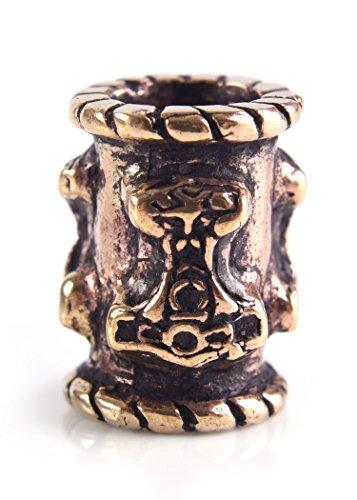 Battle-Merchant Bartperle Wikinger/Dreadlockperle/Schmuckperle aus Bronze mit Thorshammer Ø 6mm