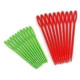 Agujas de Coser - 20 Unids/Set 9cm / 7cm Ganchos de Ganchillo de plástico Multicolor Agujas de Coser Agujas de sutura DIY Crafts Loom Yarn Tool - Multi Color