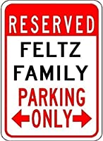 高輝度ブリキ看板、フェルツ家族駐車場、錫壁看板レトロな鉄の絵ヴィンテージ金属プラーク吊りポスター用バーカフェストアホームヤード