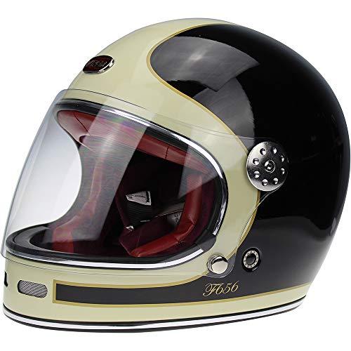 Viper F656 Vintage Full Face Fibreglass Classic Motorcycle Helmet -...