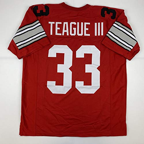 Unsigned Master Teague III Ohio State Red Custom Stitched College Football Jersey Size Men's XL New No Brands/Logos
