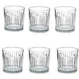Juego de 6 Vasos de Whisky, Vasos de Cristal para cócteles, Bourbon, Ginebra, voldka, Brandy,C