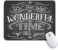 NIESIKKLAマウスパッド ほとんどの挨拶テキスト素晴らしい伝統的な時間年クリスマス新しいヴィンテージ祝日スケッチ印刷可能 ゲーミング オフィス最適 高級感 おしゃれ 防水 耐久性が良い 滑り止めゴム底 ゲーミングなど適用 用ノートブックコンピュータマウスマット