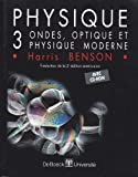 Physique, 3 ondes, optique et physique moderne (avec CD-ROM)