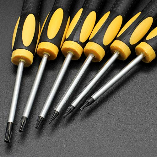 14 in 1 Torx Screwdriver Set, Complete Screwdriver with T3 T4 T5 T6 T7 T8 T10 Security Torx Bit, Repair Tool Kit for Hard Driver, Xbox, Macbook, PS4, Electronics, Ring Doorbell,Knife