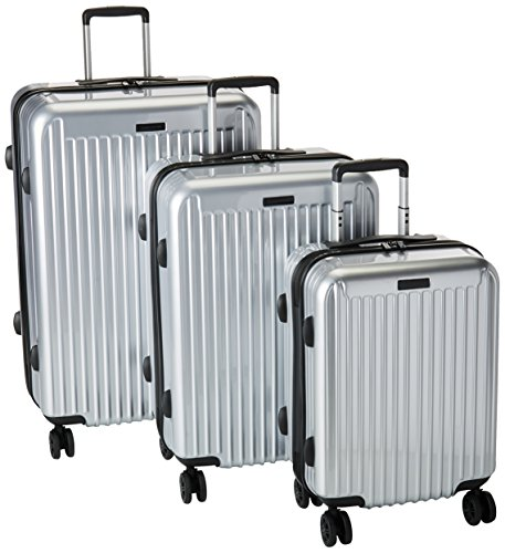 Anne Klein Dubai 3 Piece Hardside Luggage Set, Silver, One Size