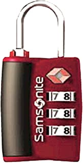 (Red Pepper) - Samsonite Luggage 3 Dial Travel Sentry Combo Lock, Red Pepper, One Size