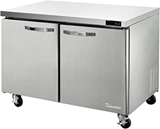 115v 3//8-HP Stainless Steel Arctic Air AUC60R 60-Inch Two-Door Undercounter Work Top Refrigerator