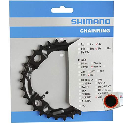 Shimano Kettenblätter FC-M4000/M4050 30 Zähne 96mm Stahl schwarz Fahrrad