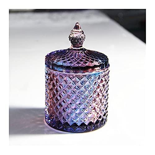 YAZHUANG8 Cenicero de Vidrio, cenicero de Vidrio Grande for cigarro, bandejas de Ceniza de Cristal Transparente ceniceros de Vidrio al Aire Libre (Color : B)