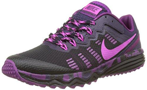 Nike Damen WMNS Dual Fusion Trail 2 Laufschuhe, Schwarz (Schwarz/Fire Pink-Purple Dynasty-Bright Grape), 38 EU