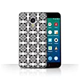 Stuff4 Phone Case for Meizu MX4 Pro Black Fashion Symmetry