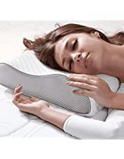 MOJOREST Cervical Contour Memory Foam Pillow,Orthopedic Pillow for Neck Pain,Orthopedic Contour Pillow Support for Back,Stomach,Side Sleepers,Anti-Snoring Neck Pillow, with Breathable Zip Cover
