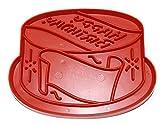 Vintage Red Plastic Tupperware Happy Birthday Cake Cookie Cutter