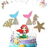 Decoración de pastel de sirena 55 Piezas cake topper de sirena topper Torta de Sirena Decoración para Fiesta en el Mar, Fiesta de Cumpleaños, Baby Shower y Fiesta de Bodas