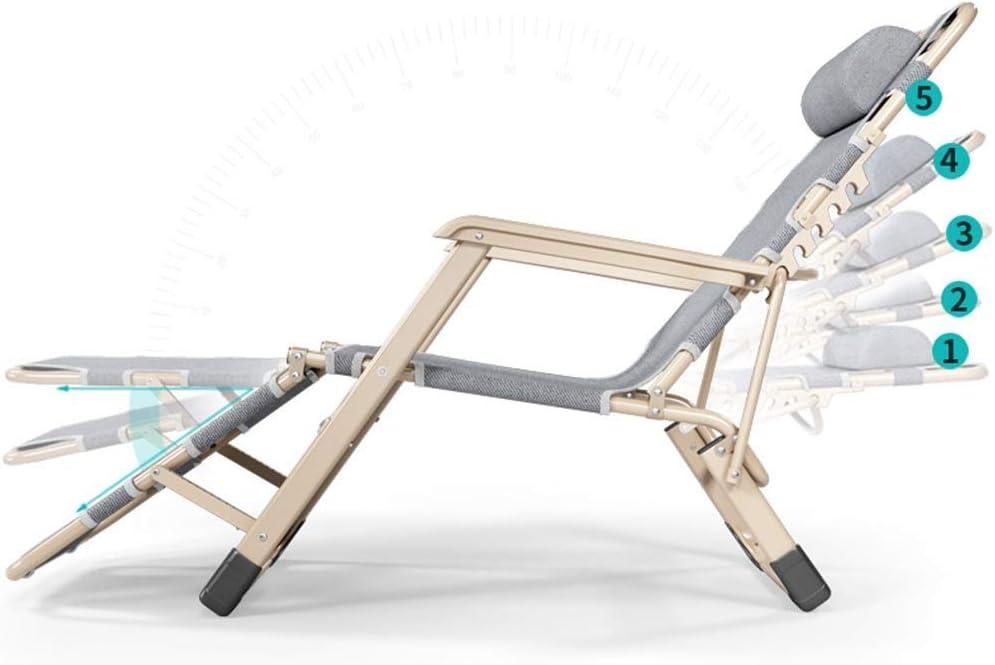 YLCJ Fauteuil de Plage Multifonctionnel pour Chaise Longue de Plage inclinable pour lit de Bureau inclinable inclinable Zero Gravity (Couleur: B) B